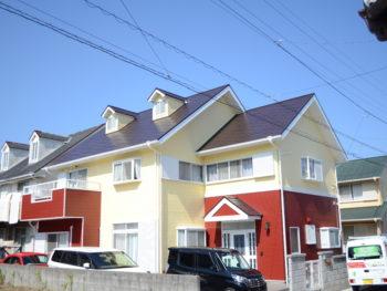 徳島市アメリカンヴィンテージ色の外壁屋根塗装