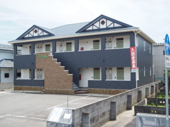 板野郡藍住町アパート外壁・屋根塗装 モルタル造形