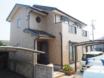 徳島市 外壁クリアー塗装・屋根茶色ブラウン  M様邸