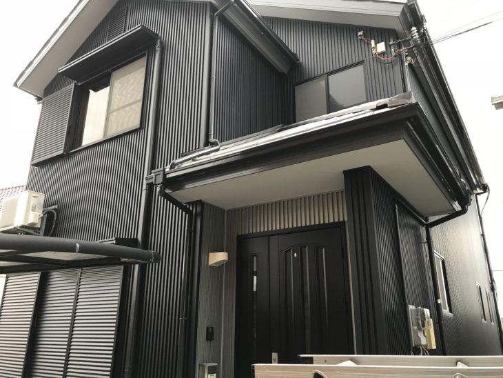 南あわじ市 外壁サイディングガルバリウム鋼板張替え A様徳島の外壁