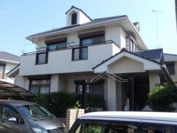 小松島市で塗装工事です