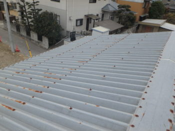 倉庫屋根 塗装 改修
