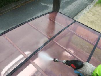 徳島市 カーポート 汚れ 洗浄