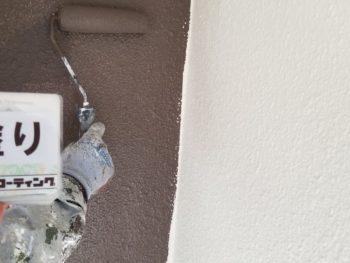 徳島 外壁 中塗り ダイフレックス ダイヤカレイド