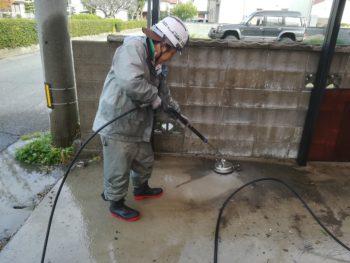 徳島市 土間 汚れ 高圧洗浄