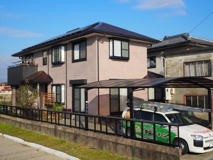 徳島県 ダイヤカレイド多彩模様 塗装施工事例