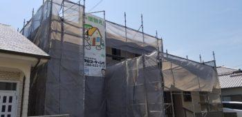 鳴門市 外壁塗装WBアート多彩仕上げ・漆喰交換 K様邸
