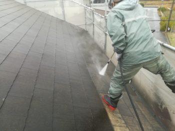 徳島市 屋根 コケ 高圧洗浄