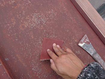徳島市 新浜町 屋根 ケレン 紙やすり