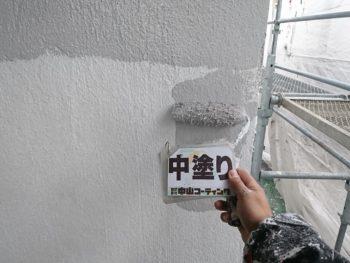 徳島市 新浜町 塗装 外壁 中塗り