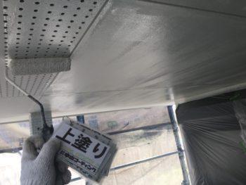 徳島県 塗装 軒天井 上塗り