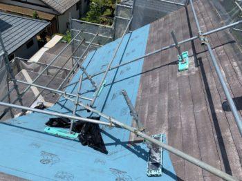 名西郡石井町で外壁と屋根張替え