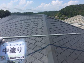 徳島県 屋根 中塗り 塗装