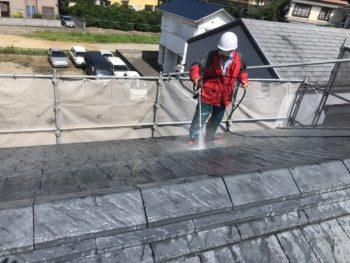 徳島県 八万町 屋根 高圧洗浄 住宅