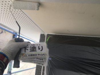 徳島県 軒天井 下塗り 塗装