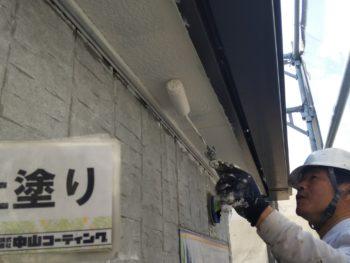 徳島県 南昭和 軒裏 塗装 上塗り