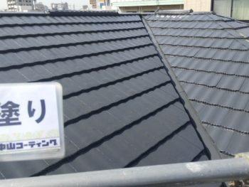 徳島県 中昭和 屋根 塗装 上塗り