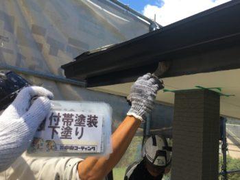 徳島県 細部塗装 下塗り 破風 塗装