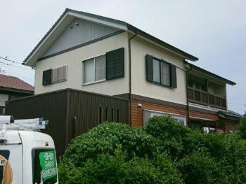 徳島県 塗装 住宅 施工後 緑