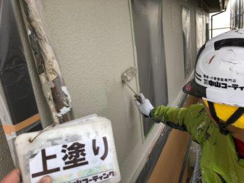 塗装 白系 外壁 上八万 徳島