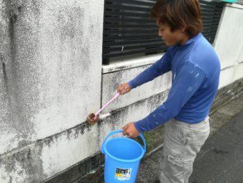 上八万 塀 ブラシ 洗浄 徳島県