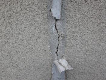 徳島県 阿南市 施工前 外壁 クラック