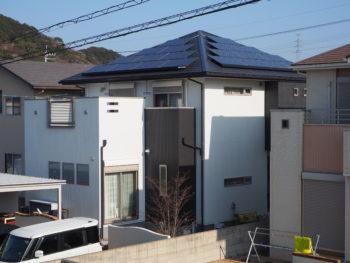 徳島県鳴門市 外壁多彩塗装 コロニアル屋根塗装