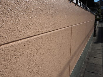 塀 塗装 施工後 徳島県 大原町