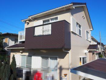 塗れないタイル箇所も外壁屋根塗装と一緒に 阿南市 木曽様