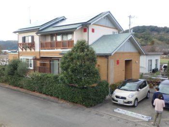 徳島県 施工前 住宅 塗装 正面