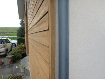 施工前 外壁 木材 反り 徳島県