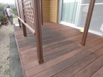 バルコニー 塗装 変色 徳島県 施工前