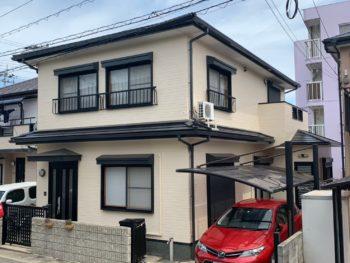 裏のマンション塗装の施工を見てて中山コーティングさんに決めました。