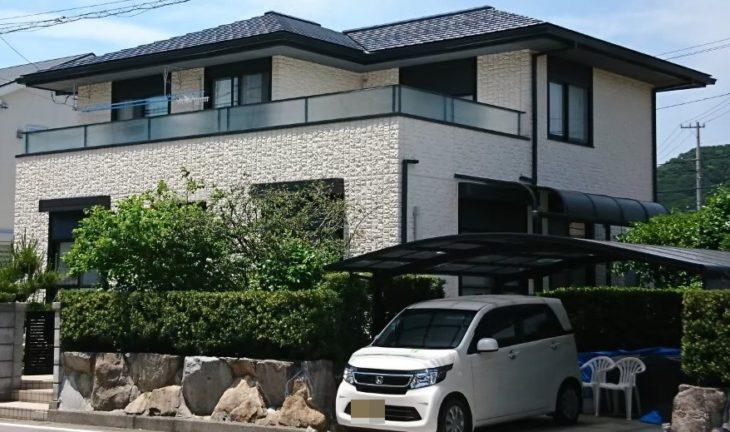 ミサワホーム徳島 ミサワセラミック外壁塗装(屋根) M様邸