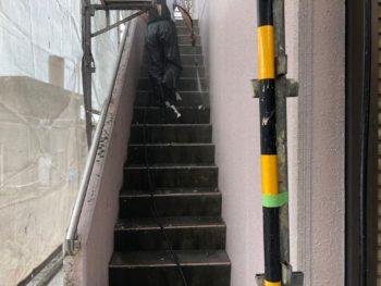 階段 徳島県 高圧洗浄