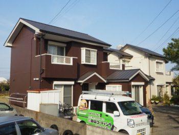 施工後 住宅 側面 塗装 徳島県