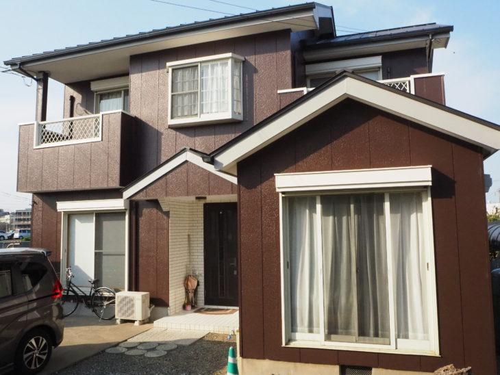 徳島県 施工後 住宅 塗装 正面