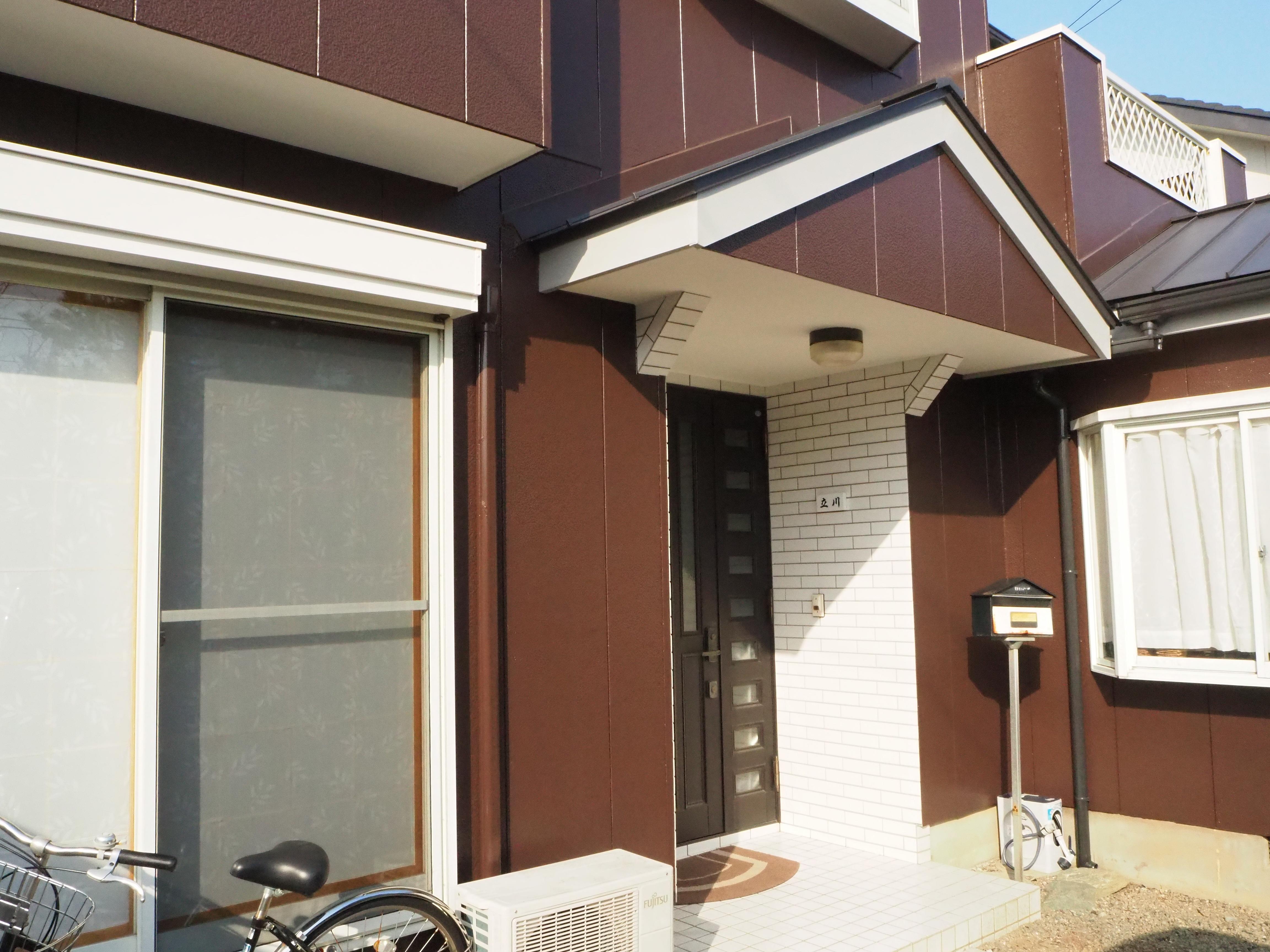 住宅 玄関 塗装 徳島県 施工後
