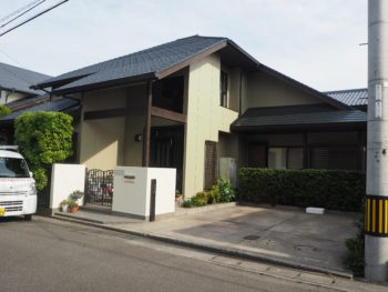 徳島市国府町 外壁 屋根 塗装 デザイン外壁張り
