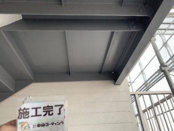 施工後 アパート 階段室 鉄部