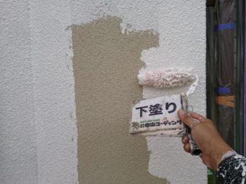 外壁 下塗り 塗装 徳島県 吉野川市
