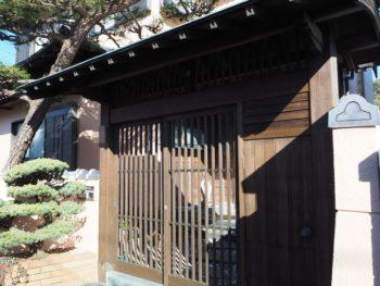 施工後 数寄屋門 塗装 徳島県 大原