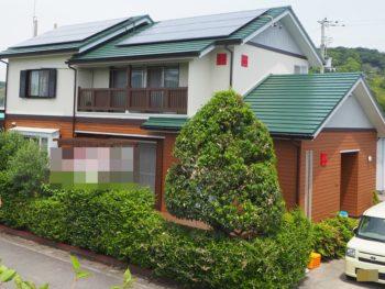 徳島県阿南市 木材外壁と金属外壁の施工 K様邸