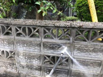 洗浄 ブロック塀 徳島県 吉野川市