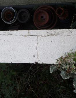 塀 クラック 徳島県 大原 施工前