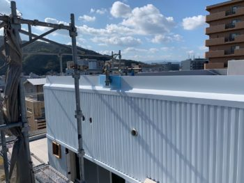 施工後 外壁 ガルバリウム鋼板 マンション 徳島