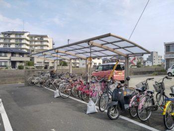 マンション 駐輪場 屋根 施工後 徳島県