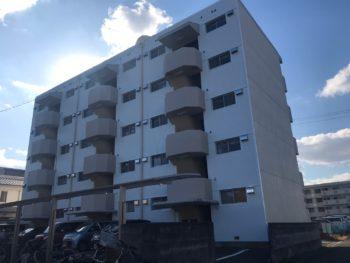 マンション 全体 側面 徳島県 施工後