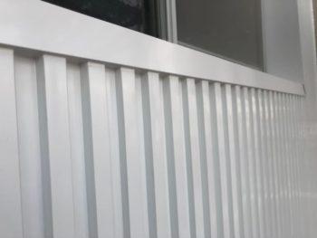 マンション 壁面 ガルバリウム鋼板 施工後 徳島県