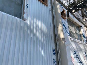 徳島県 外壁工事 ガルバリウム鋼板 マンション